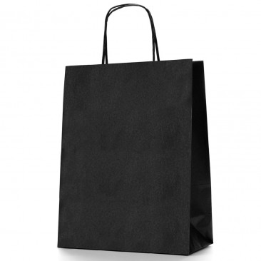 Shopper Carta Colorata Nero