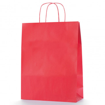 Shopper Carta Colorata Rosso