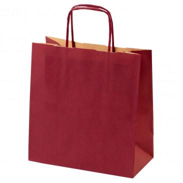 Shopper Carta Kraft Colorata Bordeaux