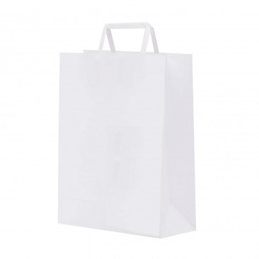 Shopper Carta Kraft piattina Bianco
