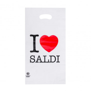 Shopper Plastica I Love Saldi
