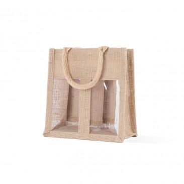 Shopper Portavasetti Manico cotone 2 vasetti Naturale