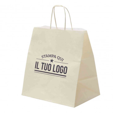 Shopper Basic Food Line Manico Cordino Personalizzata