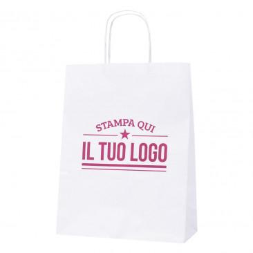 Shopper Bianca Manico Cordino Personalizzata