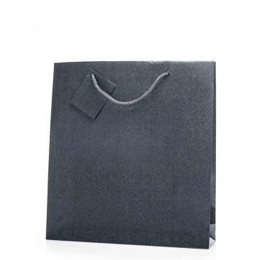 Shopper Bijoux in Carta Perlata Grigio Scuro