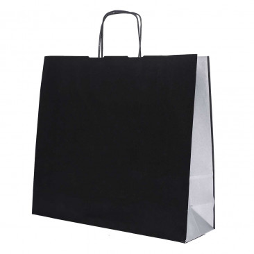 Shopper Carta Bicolor Nero