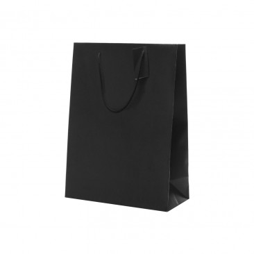 Shopper Carta Lusso Verticale Nero