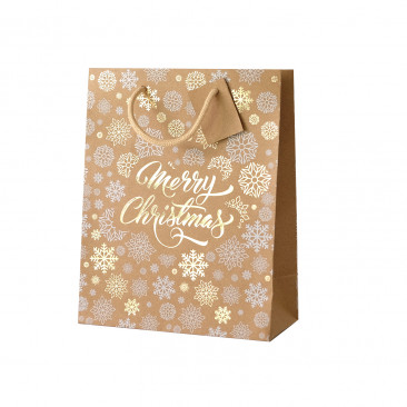 Shopper Carta Kraft Merry Christmas Fantasia Mix