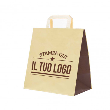Shopper Take Away Bicolor Personalizzata
