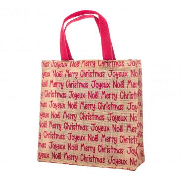 Shopper Juta Merry Christmas Rosso
