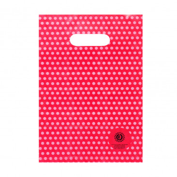 Shopper Plastica Pois  Mix