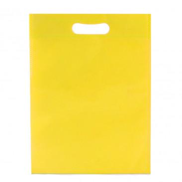 Shopper TNT Colorato manico fustellato Giallo