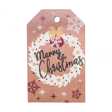 Tag Christmas Kraft Red Mix