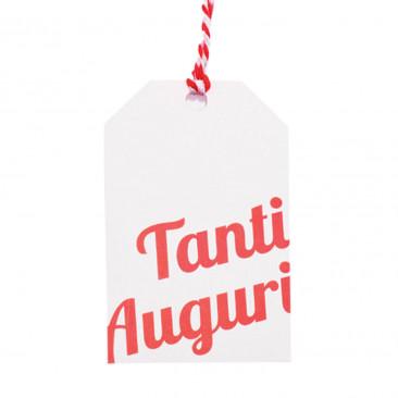 Tag Tanti Auguri con Cordino Mix