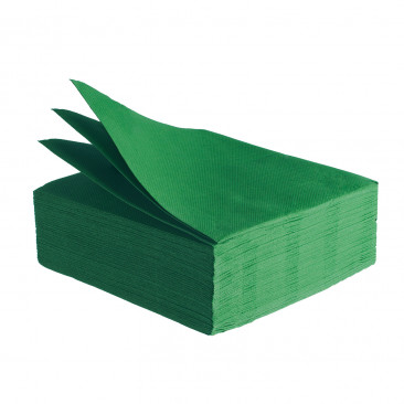 Tovaglioli Tissue Unicolor 38x38 cm Verde Bosco