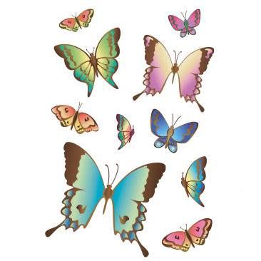 Vetrofania Farfalle singole