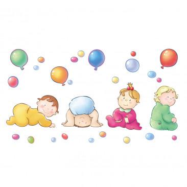 Vetrofania Gruppi di Bimbi con Palloncini