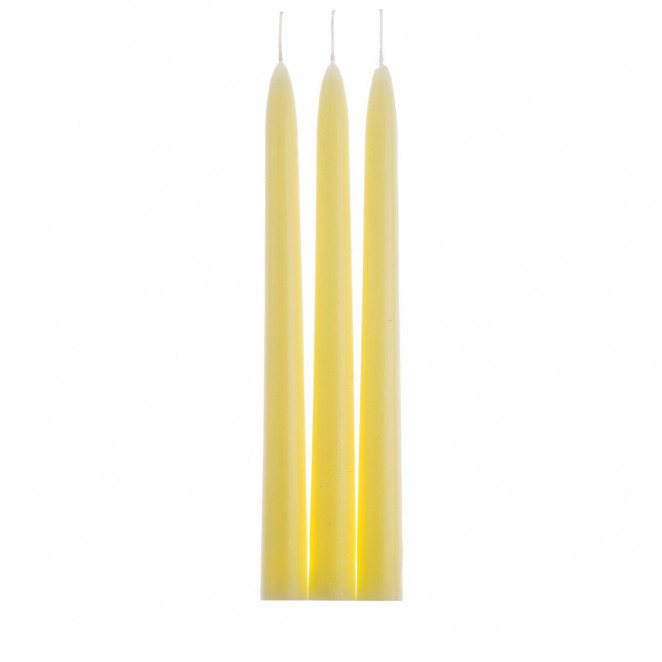 Candele Coniche Colorate Giallo