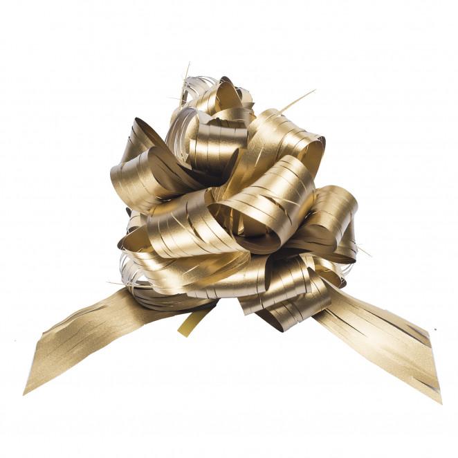 Coccarda Raphia Pull Bow Oro
