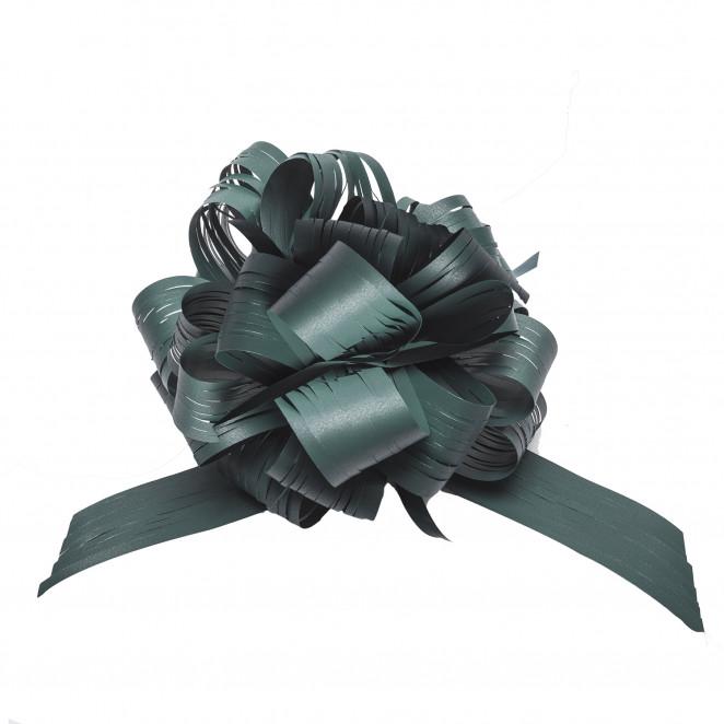 Coccarda Raphia Pull Bow Verde Scuro