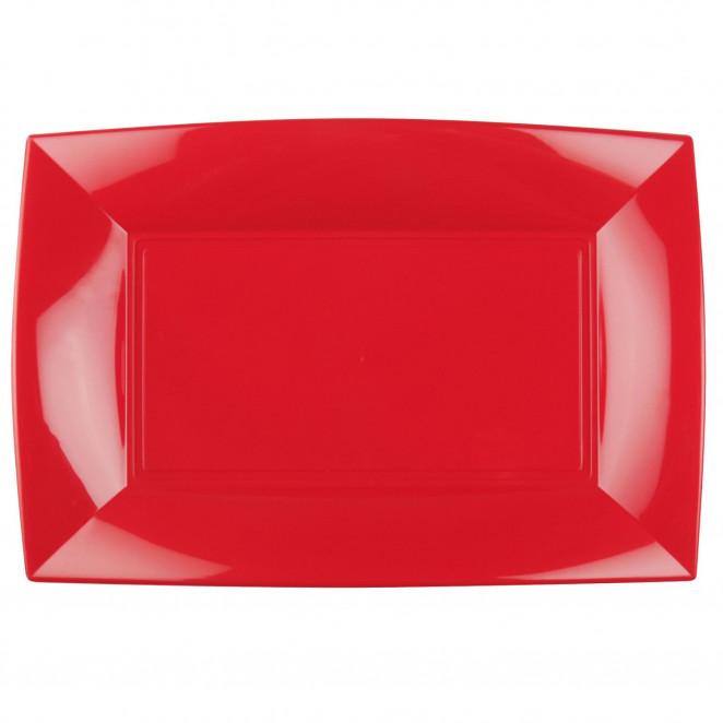 Piatti Plastica Elegance Colorata Rosso