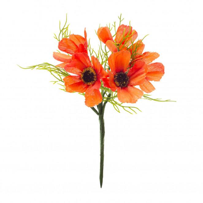 Pick Papaveri 5 fiori Arancio