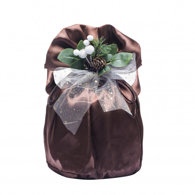 Portapanettone Satin Marrone