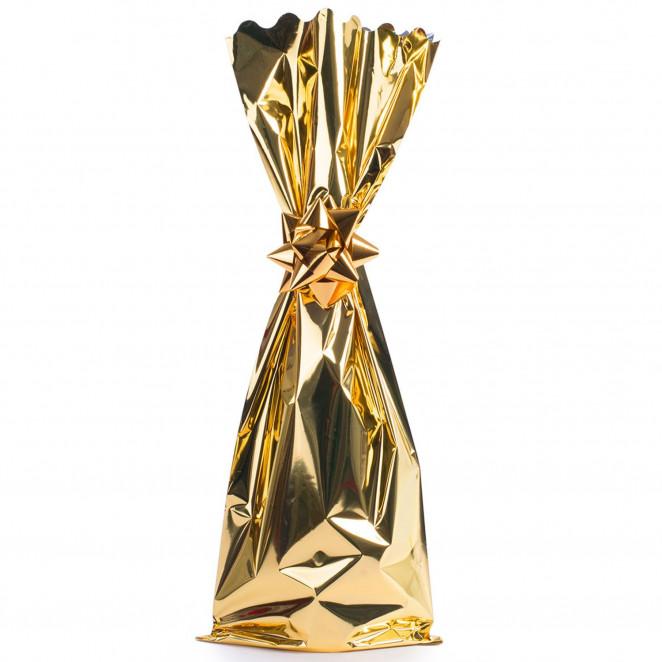 Sacchetto Metal Portabottiglie Oro