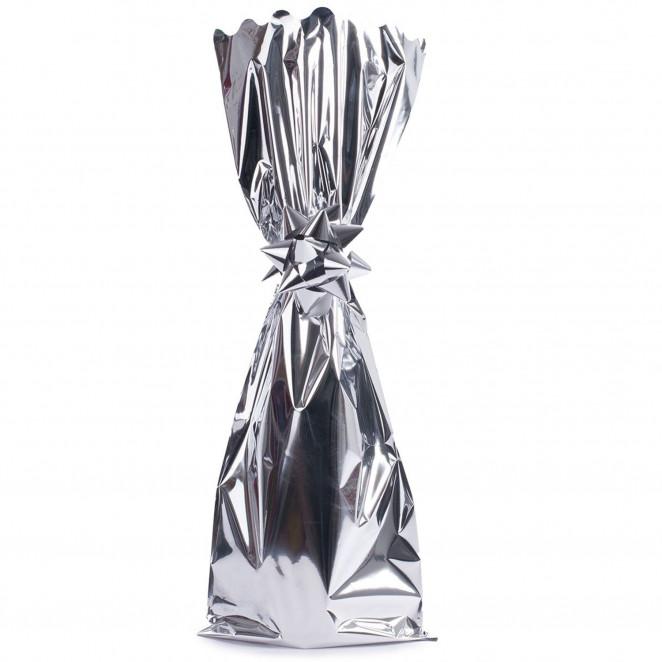 Sacchetto Metal Portabottiglie Argento