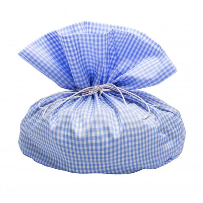 Sacco Porta Colomba Vichy Azzurro