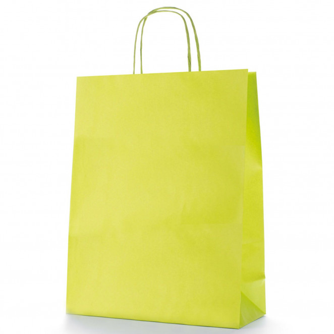 Shopper Carta Colorata Verde Chiaro
