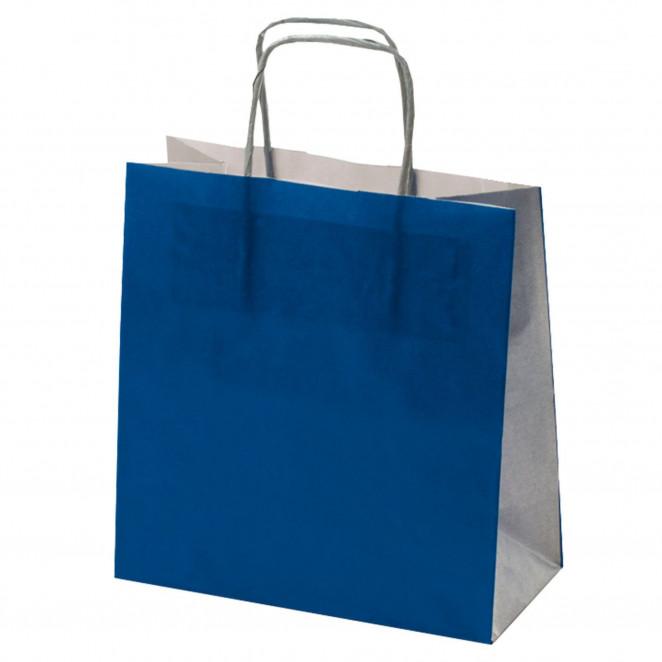 Shopper Carta Bicolor Blu