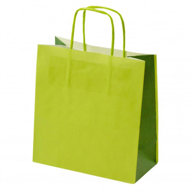 Shopper Carta Bicolor Verde