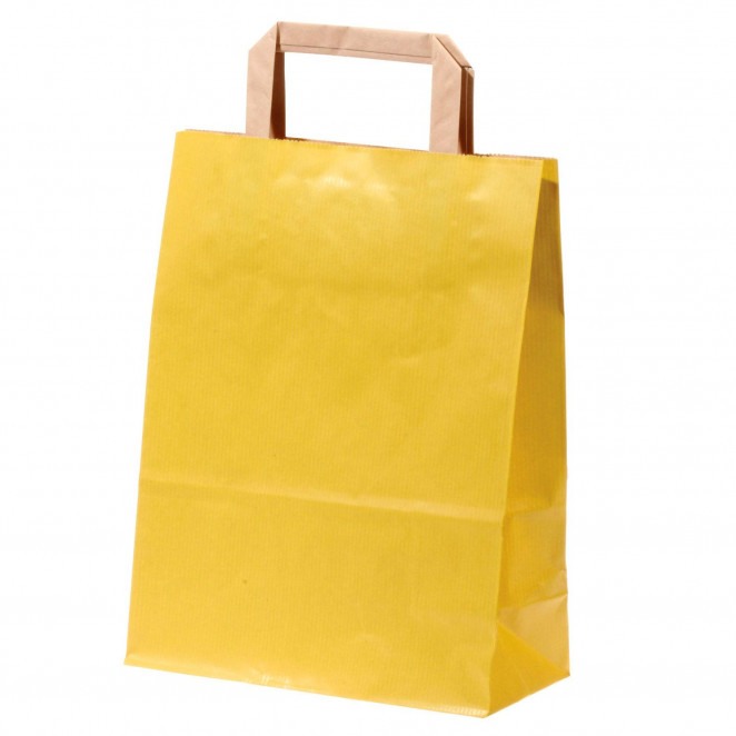 Shopper Carta Sealing Colorata Giallo