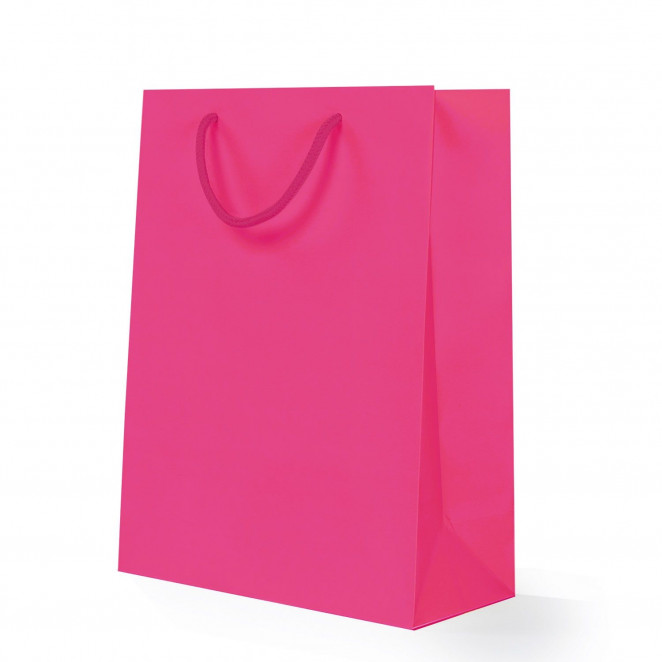 Shopper Carta Lusso Opaca Fucsia