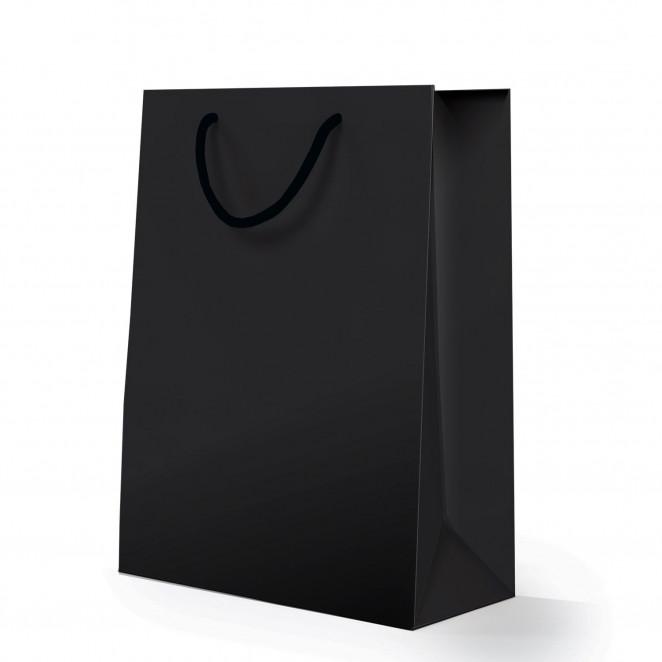 Shopper Carta Lusso Opaca Nero