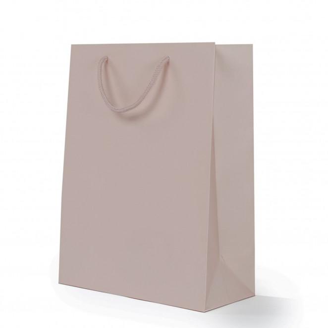 Shopper Carta Lusso Opaca Tortora