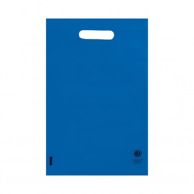 Shopper Plastica con soffietto Blu