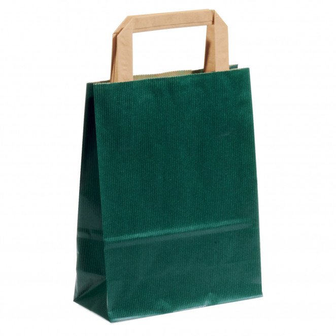 Shopper Carta Sealing Colorata Verde Scuro