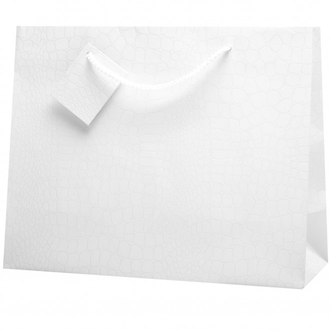 Shopper Skin in Carta Goffrata Bianco