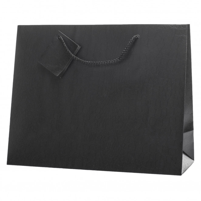 Shopper Skin in Carta Goffrata Nero