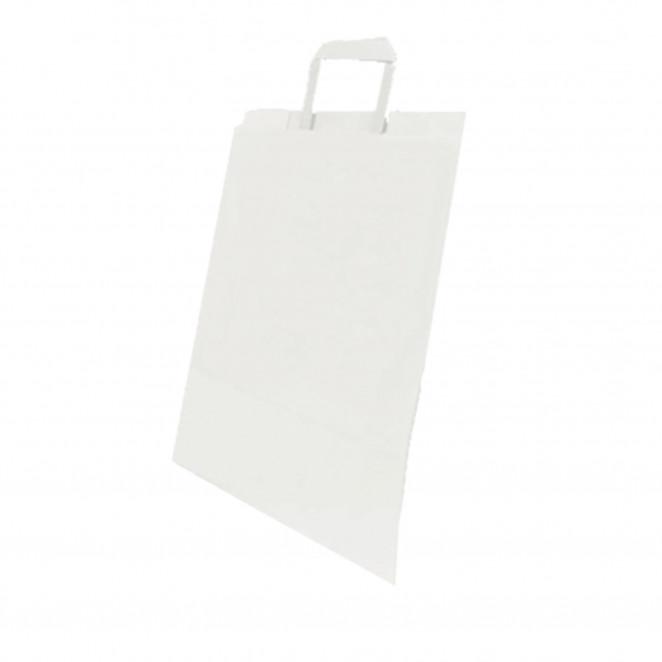 Shopper Flat Bag per Take Away Bianco