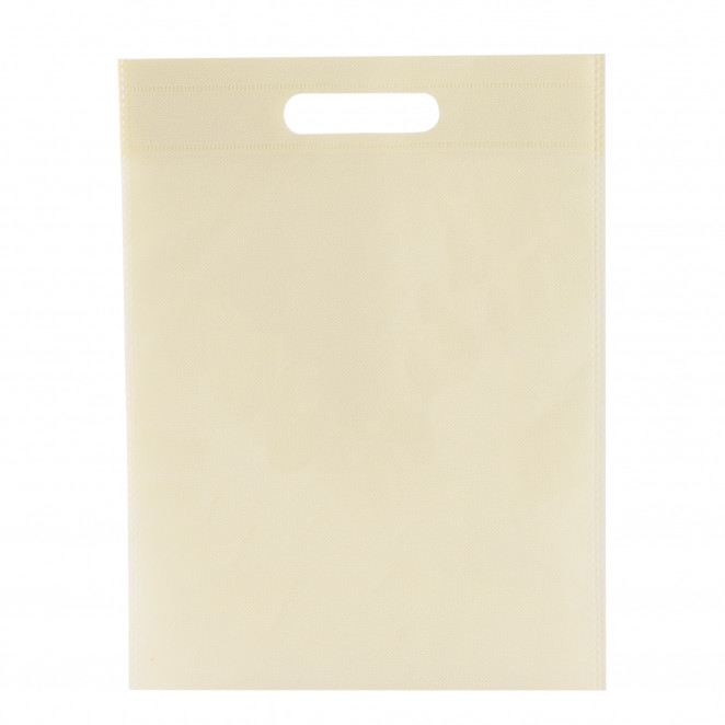 Shopper TNT Colorato manico fustellato Crema