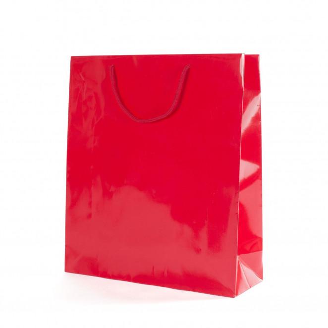 Shopper Carta Lusso Lucida Rosso