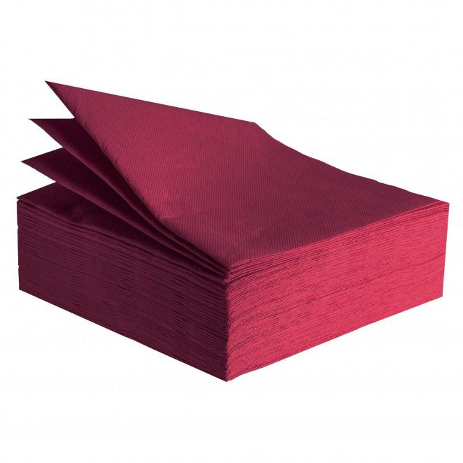 Tovaglioli Tissue Unicolor 38x38 cm Bordeaux