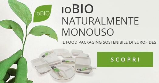ioBio Monouso Biodegradabile Compostabile