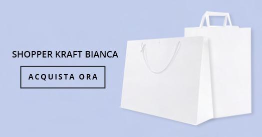 Shopper Carta Kraft Bianca