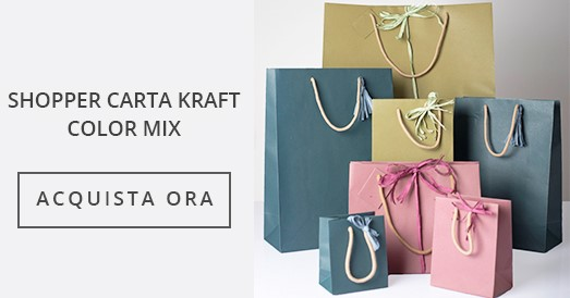 Shopper Carta Kraft Color Mix