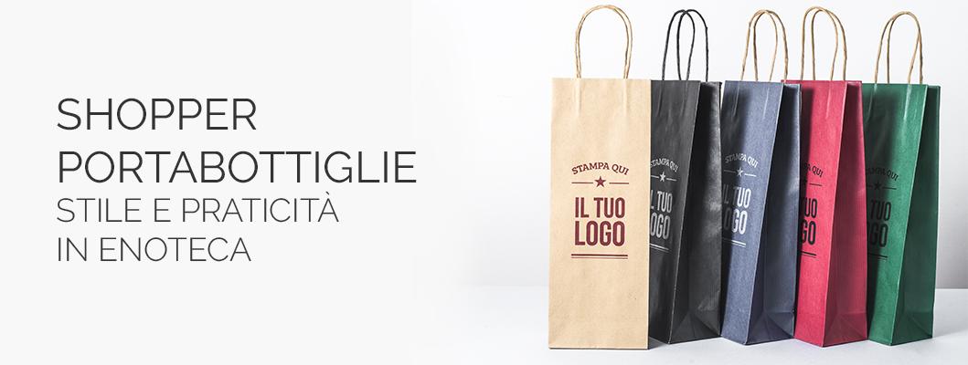 Shopper Portabottiglie Personalizzata Eurofides