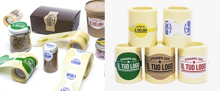 Etichette Adesive Sagomate Personalizzate
